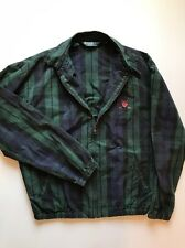 Men's Medium M Vintage Polo Ralph Lauren Bomber Jacket Plaid Golf Patch Tartan