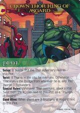 SPIDER-MAN/WOLVERINE/HULK Upper Deck Marvel Legendary PLOT CROWN THOR KING