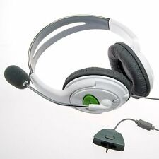 "CASQUE DOUBLE + MICRO POUR MANETTE MICROSOFT XBOX 360 LIVE  ""NEUF"" AXB3602207"