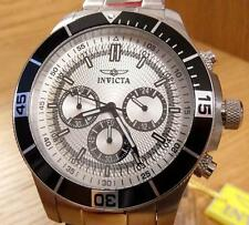 Mens XL Chunky Steel Invicta Specialty Tritnite Silver Dial 100m wr Divers Watch