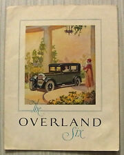OVERLAND SIX Sedan & Touring USA Car Sales Brochure c1925