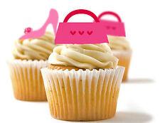 ✿ 24 Comestibles Papel De Arroz Cup Cake, aderezos, Pastel SFD-Bolsa Y Zapatos ✿