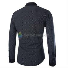 New Men's Luxury Slim Fit Long Sleeve Double Collar Casual Formal Tops T-Shirt