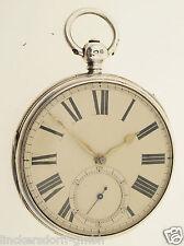 ANTIKE ENGLISCHE TASCHENUHR VON 1865 - LONDON - 925er SILBER - 144g - STIFTANKER