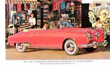Ripr. Cartolina Tecnica Trasporti 1950 The studebaker Commander Convertible