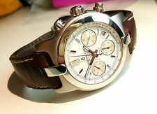 Bertolucci Automatic Chronograph 42mm Stainless Steel Watch / Brown Strap