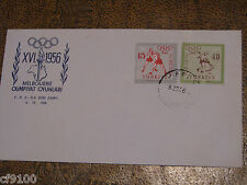 Turkey 1956  Olympics Cover See Scan
