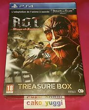 ATTACK ON TITAN A.O.T. WINGS OF FREEDOM TREASURE BOX SONY PS4 100% FR NEUF