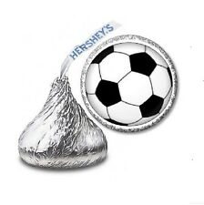 216 SOCCER HERSHEY'S KISS CANDY BIRTHDAY STICKER LABELS - Party Favors