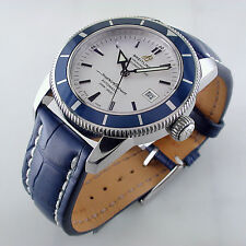 Breitling Superocean Heritage 42mm Blue Bezel Silver Dial Watch A1732116 BnP