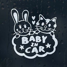 Baby In Car Funny Kittens Decal Vinyl Sticker