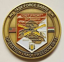 OIF US Army 101st Airborne 2nd Squadron 17th Calvary Regiment TF Sabre 1.75""