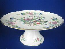 "AYNSLEY ENGLAND PEMBROKE 10"" Footed Cake Plate"