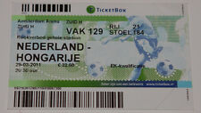 old TICKET EURO 2012 q * Netherlands Holland - Hungary in Amsterdam