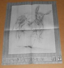 AZ Music for Scattered Brains Poster Original Promo 22x17 Rap RARE