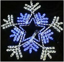 65cm Blue & White LED Snowflake Rope Light Xmas Lights Indoor Outdoor Christmas