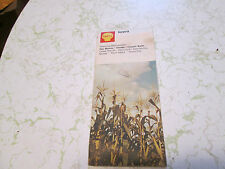 Vintage Road Map - Shell Oil - Iowa - 1971 Edition -