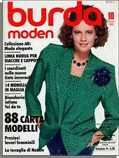 Burda Moden - 1985, October - German Language Fashion, Women's Magazine!