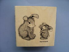 HOUSE MOUSE RUBBER STAMPS HAPPY HOPPERS FORGET ME NOTS NEW WOOD STAMP