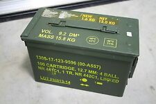 1 US Military Issued M2A1 Ammo Can Box Surplus (RARE) 12.7 MM - 5.56 -  .50 Cal