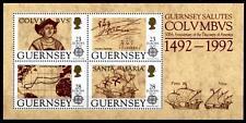 500 Jahre Entdeckung Amerikas. Chr. Kolumbus. Block. Guernsey 1992