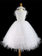 White Tinkerbelle Bridesmaid/Flower Girl/Communion dress   AGE 9-10 years