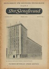 Der Stenofreund 3 54 1954 Zeitschrift Deutsche Stenografie DDR Leipzig Steno