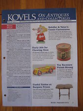 KOVELS antique Schafer Vater figural toy ring racecar chewing gum ad tin vintage