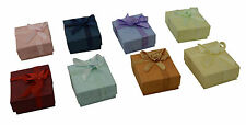 Hot 16Pcs Ring Earring Jewellery Square Gift Storage Case Boxes Paper Cardboard