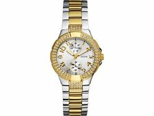NEW GUESS Women's W15072L3 Sparkling Silver-2Tone Hi-Energy Mid-Size Watch