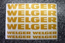 Welger Ballenpresse Hochdruckpresse Heupresse Aufkleber in gelb