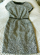 Animal print party dress by M&S MARKS & SPENCER Size 8 - 10 Black & beige