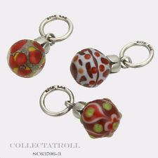 Authentic Trollbeads Silver Red Christmas Ornaments Kit - 3 Beads SC63706