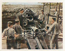 German Soldiers Mortar in fire France War Deutsches Heer WWI WELTKRIEG 1 CHROMO