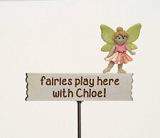 Personalised Fairy Garden Sign ~Customised Miniature Sign ~ Handmade by Jennifer