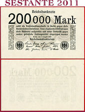 (com) GERMANY  REICHBANKNOTE 200000 200.000 MARK 9.8. 1923 - P 100 - UNC perfect