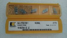 Kennametal Top Notch Carbide Insert NG2094L KT175 NEW in Package (LOT OF 10)
