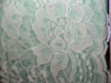 "Lace trim #444 Raschel scalloped edge polyester 4"" flat MINT 15 1/2 yd.bag"