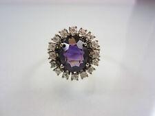 Prunkvoller Ring aus Rotgold 585 mit Amethyst und Diamanten