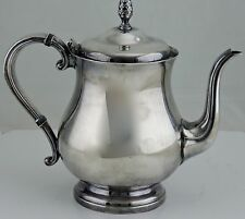 VINTAGE SILVER PLATED TEA COFFEE CHOCOLATE POT ACORN KNOB NEWPORT HOLLOWWARE
