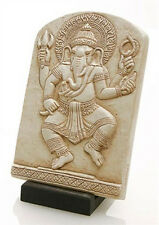 "Small Dancing Ganesh Elephant Hindu Wall Hanging Relief 6""H O-037S"