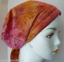 Batik Cancer Chemo Alopecia Hair Loss Scarf Turban Head Wrap Bad Hair Day Hat