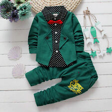 2Pcs Toddler Baby Boys Tops+Pants Kids Clothes Gentleman Outfits Set 18-24Mothes