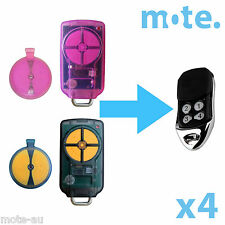 4 x ATA PTX-5v1 Compatible Garage/Gate Door Remote GDO 6v3/7v2/7v3/8v3/9v2/9v3
