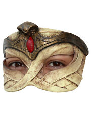 Egyptian Mummy Queen Half Mask Latex Halloween Costume Accessory Prop Asp