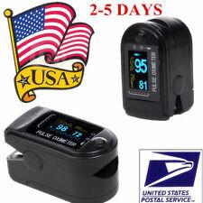 US Seller FDA Oximeter Pulse FingerTip Monitor Blood Oxygen SpO2,PR CMS50D,Black