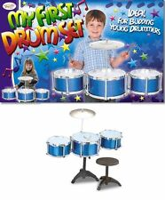 NEW TOYRIFIC MY FIRST DRUM SET KIT CHILDRENS KIDS TOY WITH DRUMS STOOL & STICKS