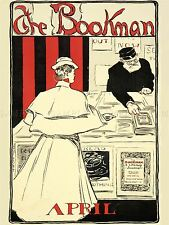 ADVERTISING BOOKMAN MAGAZINE PERIODICAL 1896 APRIL BOOK SHOP POSTER PRINT LV549