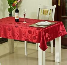 Xmas Linen / Decoration Red Gold Glitter Table Cloth / Sparkle Linen Dinner Deco
