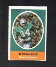 1972 SUNOCO STAMP BILL STANFILL MIAMI DOLPHINS